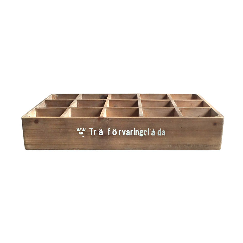 Wood Colletion Box 15spt SWD 'Natural'