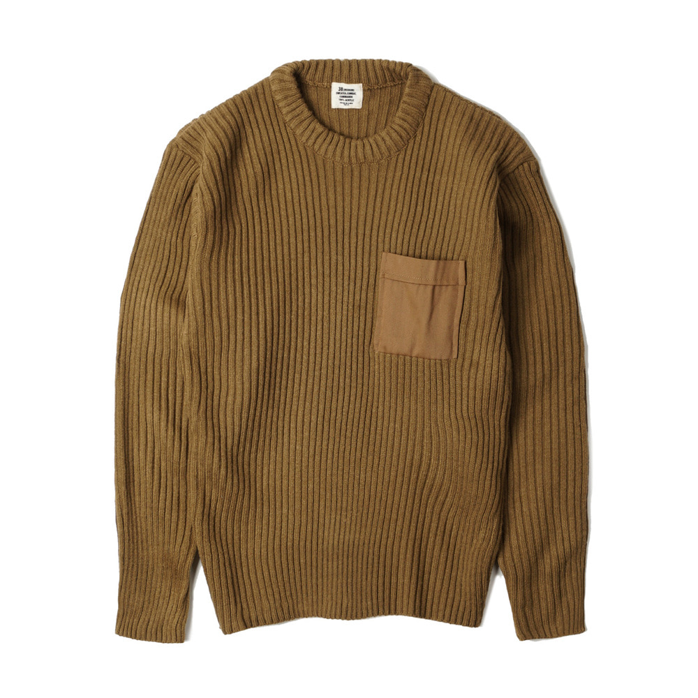 US Type Commando Sweater with Pocket 'Coyote'