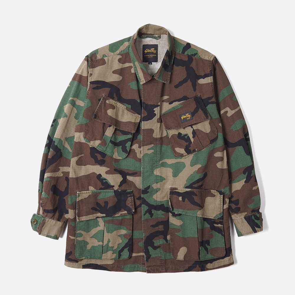 Tropical Jacket - Stonewashed Woodland Camo