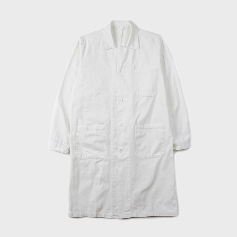 Czech Type Work Coat - White