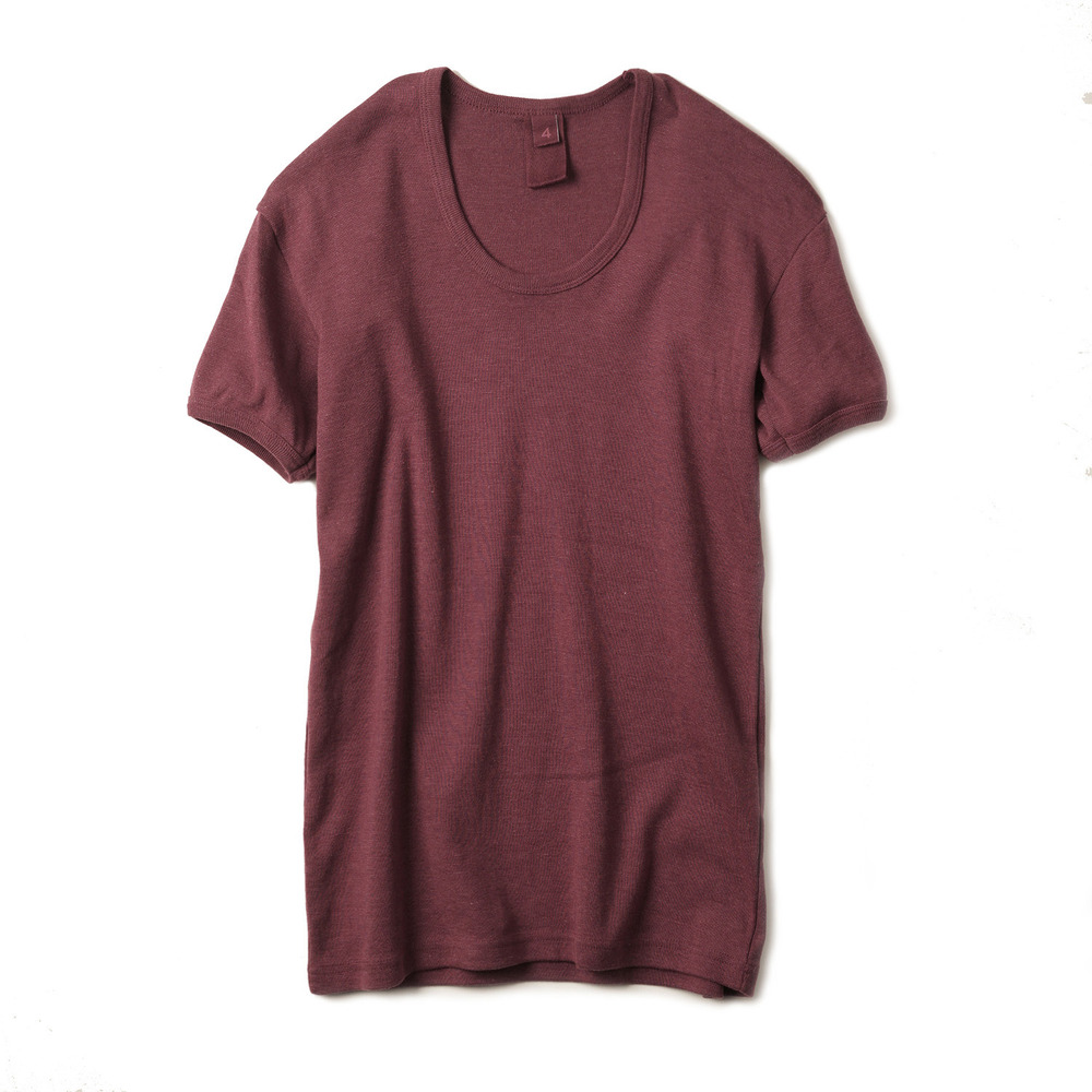East Germany U-Neck T-Shirts 'Burgundy'