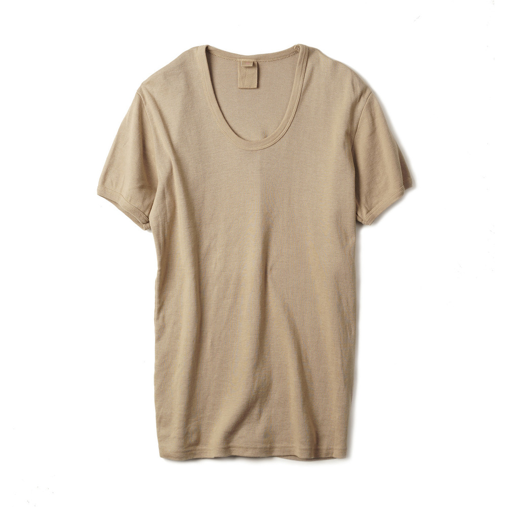 East Germany U-Neck T-Shirts 'Brown'