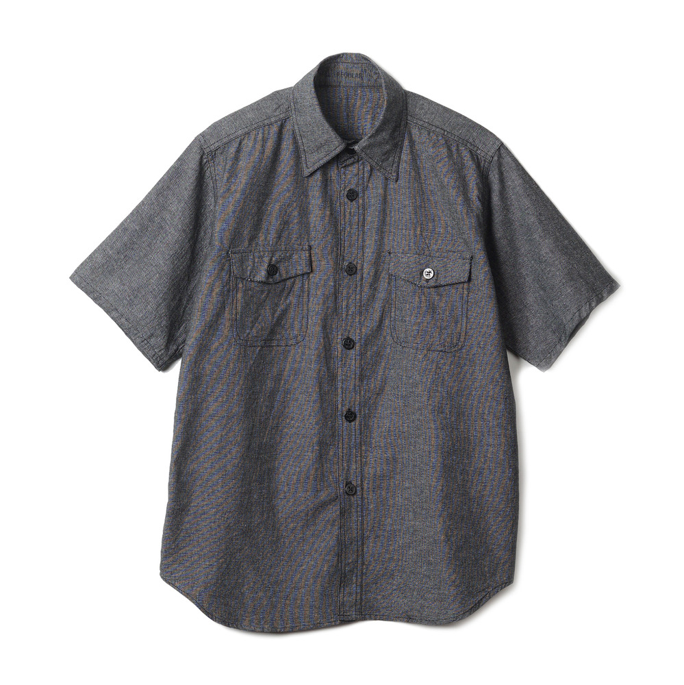 US Type NAVY Chambray Shirts S/S 'Black'