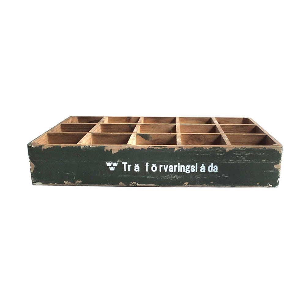 Wood Colletion Box 15spt SWD 'Olive'
