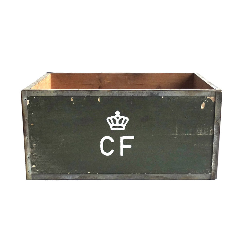 Storage Wood Box CF 'L' 'Olive'