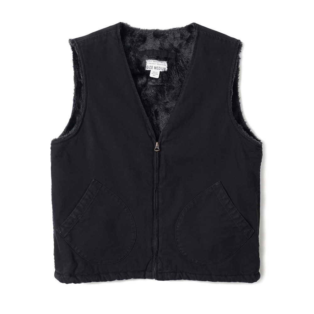 US Type AAF Pilot Vest 'Black'