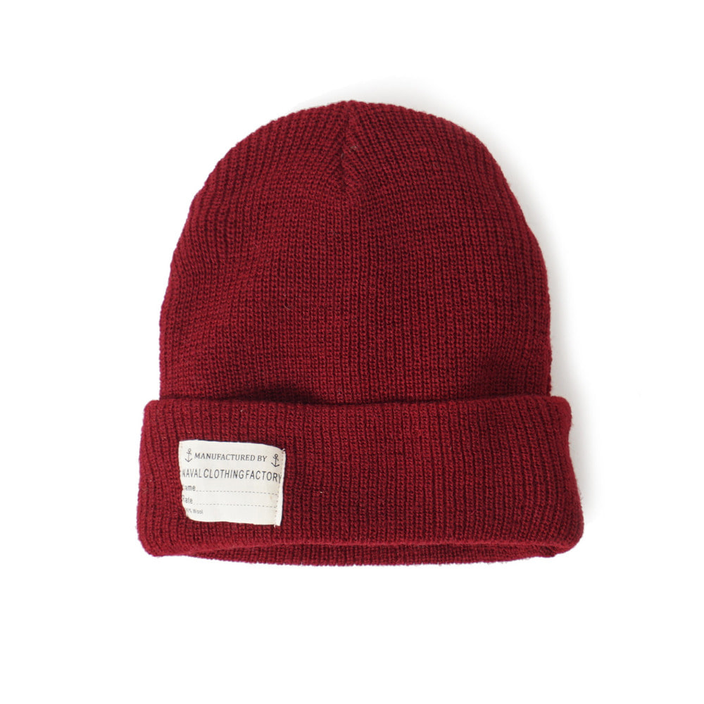 US Type NAVY Wool Watch Cap 'Burgundy'