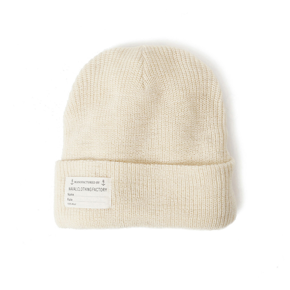 US Type NAVY Wool Watch Cap 'Natural'