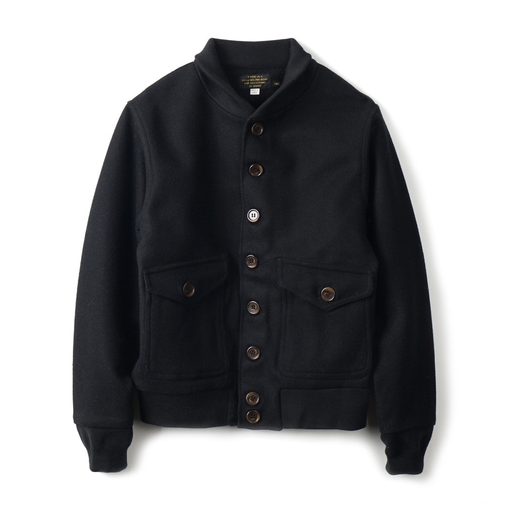 US Type A-1 Style Wool Jacket 'Black'
