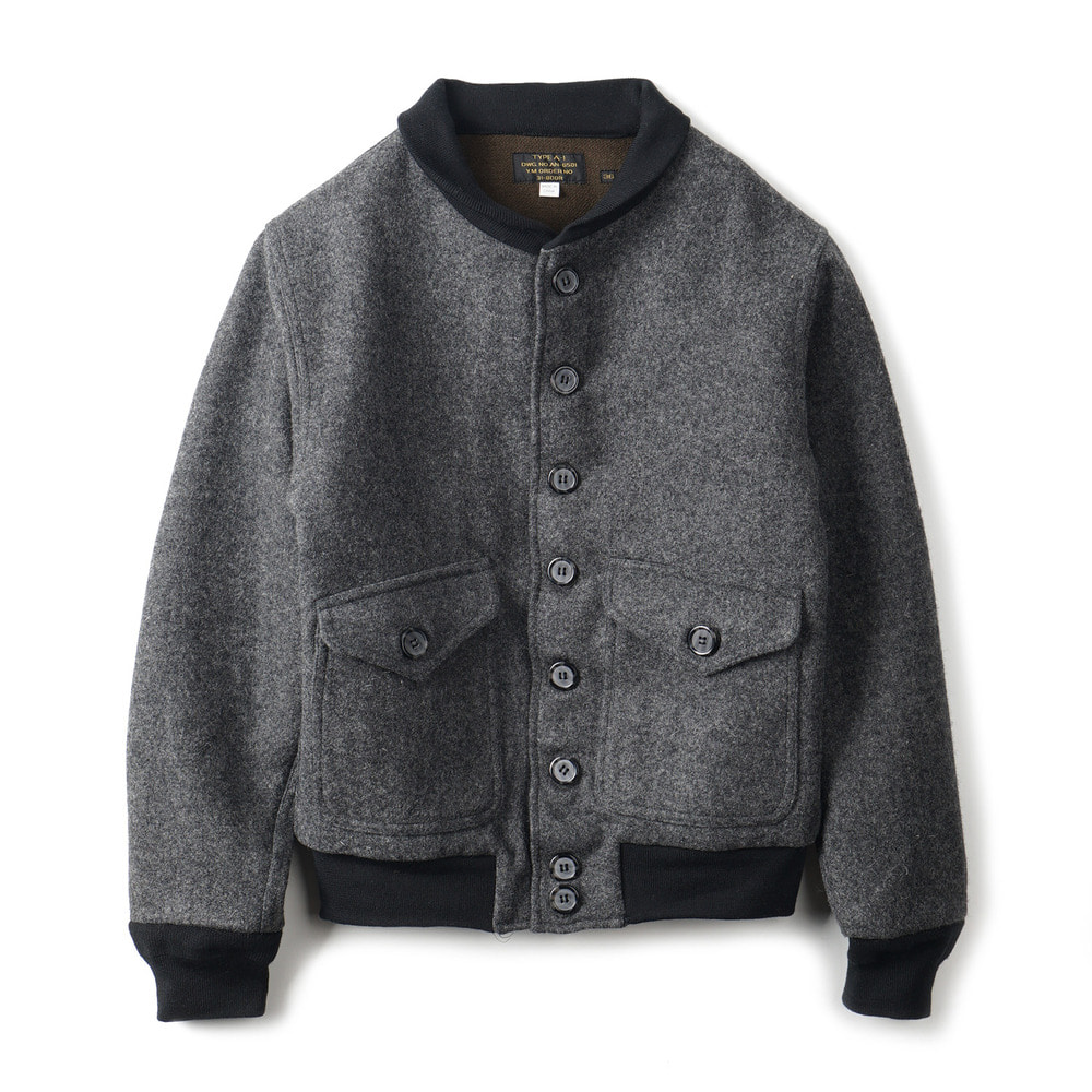 US Type A-1 Style Wool Jacket 'Grey'