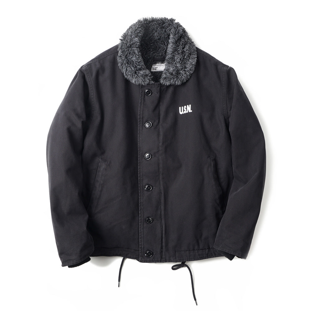 US Type N-1 Deck Jacket Wash 'Black'