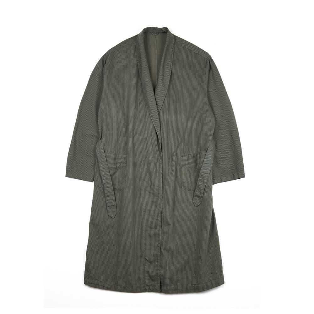 Czech Work Stripe Coat 'Dead Stock' - 'Olive'