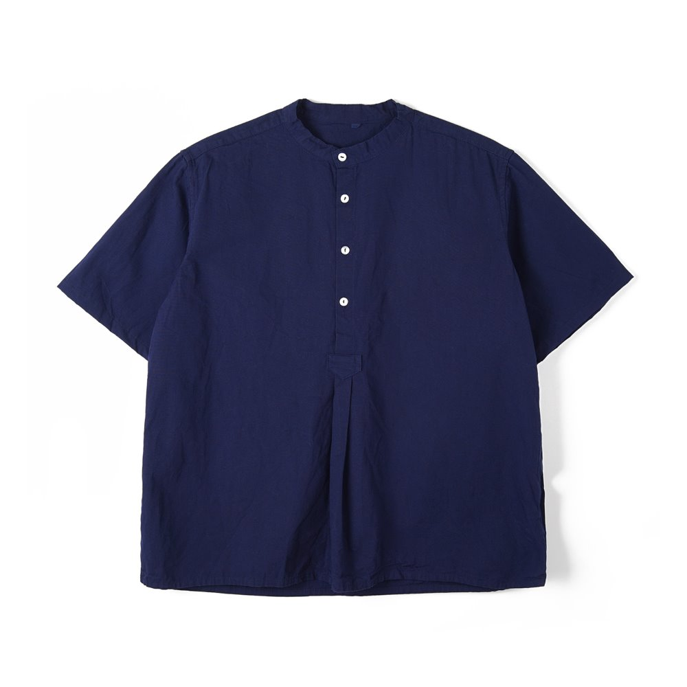 Bulgarian 50's Grandpa Short Sleeve Shirt 'Navy'