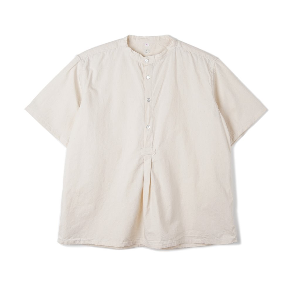 Bulgarian 50's Grandpa Short Sleeve Shirt 'Off White'