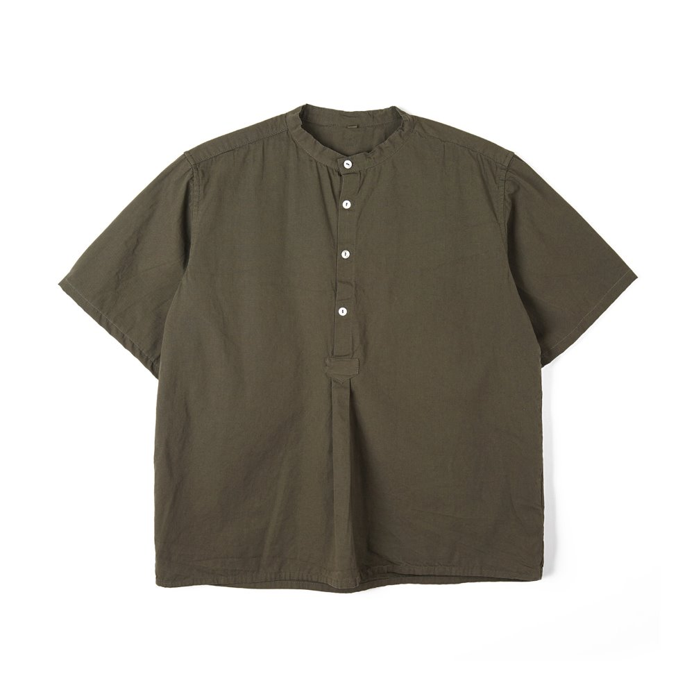 Bulgarian 50's Grandpa Short Sleeve Shirt 'Olive'