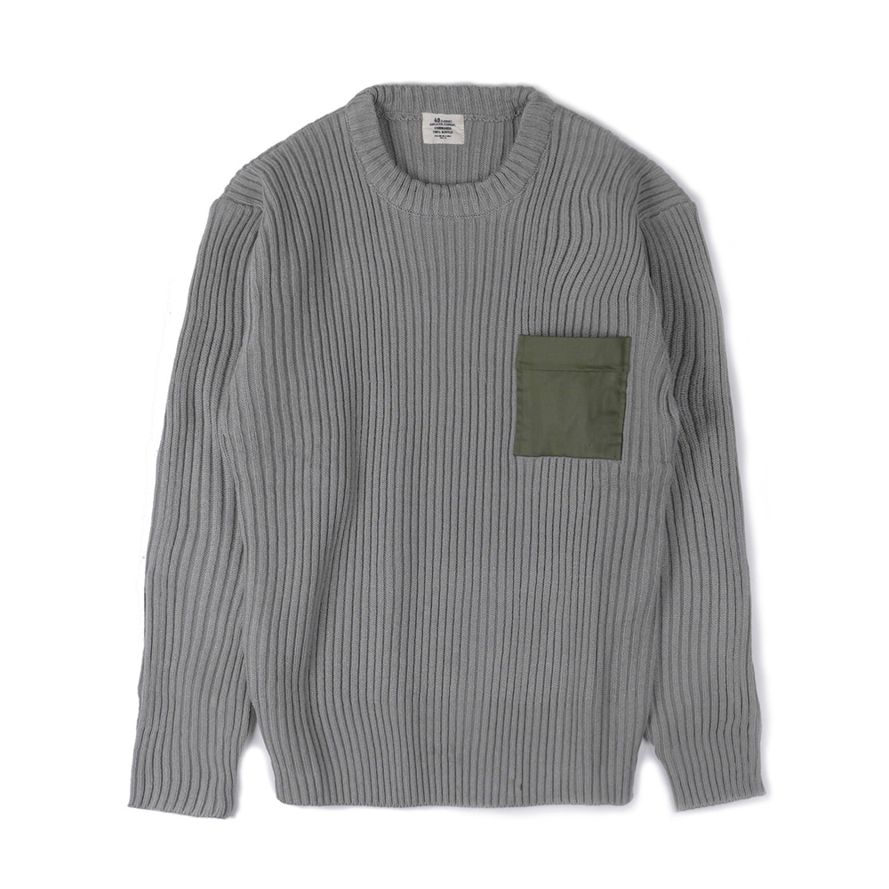 US Type Commando Sweater with Pocket 'Foliage'