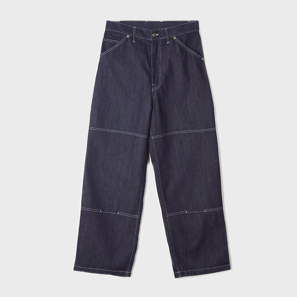 Wide Leg Painter Pant - One Wash Denim